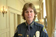 Directora de policía local, Shelley Zimmerman